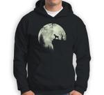 Miniature Schnauzer Dog and Moon Howl In Forest Halloween Sweatshirt & Hoodie