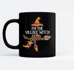 Im the Village Witch Halloween Matching Group Costume Ceramic Coffee Black Mugs