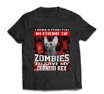 In Front Of Zombies To Save My Cornish Rex Cat Halloween T-shirt