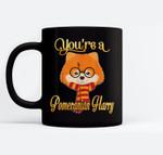 You're A Pomeranian Harry Dog Potter Glasses Scarf Ceramic Coffee Black Mugs