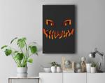 Jack O Lantern Pumpkin Face Halloween Costume Premium Wall Art Canvas Decor