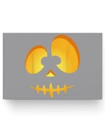 Jack O Lantern Scary Carved Pumpkin Scull Halloween Costume Matter Poster