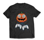 Jack O Lantern Sunglasses Games Controller Gamer Halloween T-shirt