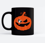 Jack O' Lantern Orange Pumpkin Halloween Costume Ceramic Coffee Black Mugs