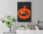 Jack O' Lantern Orange Pumpkin Halloween Costume Premium Wall Art Canvas Decor