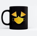 Jack O' Lantern Pumpkin with Mask simple Halloween Costume Ceramic Coffee Black Mugs