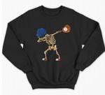 Baseball Dabbing Skeleton Lazy DIY Halloween Costume Sport Sweatshirt & Hoodie