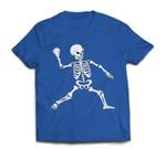 Baseball Halloween Skeleton Costume Celebration T-shirt