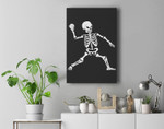 Baseball Halloween Skeleton Costume Celebration Premium Wall Art Canvas Decor