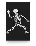 Baseball Halloween Skeleton Costume Celebration Matter Poster