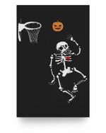 Basketball Skeleton Pumpkins Halloween Ideas For Boys Girls Matter Poster