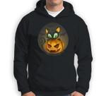 Bats, Black Cat, Pumpkin, Jack O Lantern Halloween Sweatshirt & Hoodie
