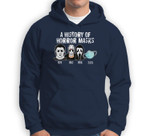 A History Of Horror Masks Funny Halloween Movie Costume Sweatshirt & Hoodie