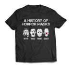A History of Horror Masks Halloween Funny Costume Anti-Biden T-shirt