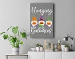 Hanging With My Gnomies Couples Halloween Costumes For Adult Premium Wall Art Canvas Decor