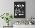 Hanging With My Gnomies Group Halloween Costume For Adults Premium Wall Art Canvas Decor