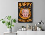 Happy Biden Pumpkin Christmas Halloween Costume Premium Wall Art Canvas Decor