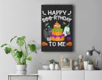 Happy Boo-thday To Me Halloween Pumpkin Birthday Funny Premium Wall Art Canvas Decor