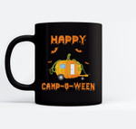 Happy Camp-o-ween Funny Camping Halloween Ceramic Coffee Black Mugs
