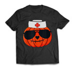 Halloween Nurse Jackolantern Pumpkin Nurse Costume Men Women T-shirt