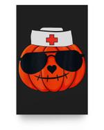 Halloween Nurse Jackolantern Pumpkin Nurse Costume Men Women Matter Poster
