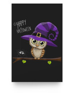 Halloween Owl Happy Halloween Matter Poster