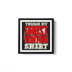 Halloween Party Disguise Ghost Buster Costume Hunter White Framed Square Wall Art