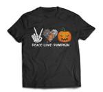 Halloween Peace Love Pumpkin T-shirt