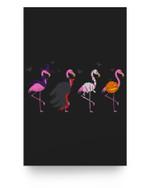 Halloween Pink Flamingo Costume Witch Vampire Mummy Jack Matter Poster