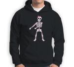 Halloween Pink Hair Bow Skeleton Floss Dancer Girls Sweatshirt & Hoodie