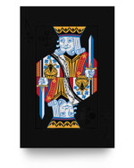 Halloween Playing Card Costume KING of CLUBS design Matter Poster