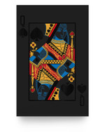 Halloween Playing Card Costume QUEEN of SPADES Matter Poster