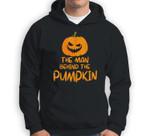 Halloween Pregnancy Man Behind The Pumpkin Halloween Couple Sweatshirt & Hoodie