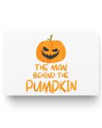 Halloween Pregnancy Man Behind The Pumpkin Halloween Couple Matter Poster