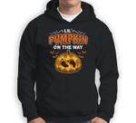Halloween Pregnancy Maternity Lil' Pumpkin On The Way Sweatshirt & Hoodie