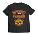 Halloween Pregnancy Women Men Expecting Little Pumpkin T-shirt
