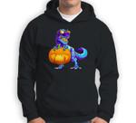Halloween TRex with Pumpkin Dinosaur T Rex Boys Girls Sweatshirt & Hoodie