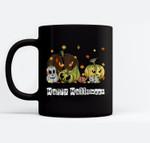 Happy Halloween - Jack-O-Lantern Pumpkin Monsters Halloween Ceramic Coffee Black Mugs