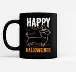 Happy Halloweiner Dachshund Dog Halloween Pet Owner Gift Ceramic Coffee Black Mugs