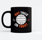 Hat Trick Or Treat Halloween In Water Polo Funny Ceramic Coffee Black Mugs
