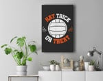 Hat Trick Or Treat Halloween In Water Polo Funny Premium Wall Art Canvas Decor