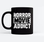 Horror Movie Addict Scary Funny Halloween Party Classic Film Ceramic Coffee Black Mugs