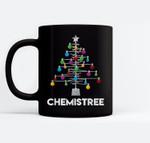 Chemistree Funny Christmas Science Lover Pun Ceramic Coffee Black Mugs