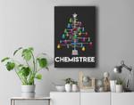 Chemistree Funny Christmas Science Lover Pun Premium Wall Art Canvas Decor