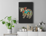 Chihuahua Halloween Day Of The Dead Premium Wall Art Canvas Decor