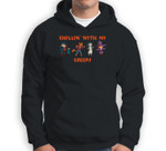 Chillin With My Creeps Vampire Werewolf Witch Halloween Sweatshirt & Hoodie