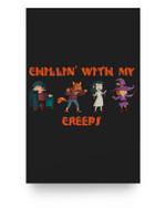 Chillin With My Creeps Vampire Werewolf Witch Halloween Matter Poster