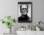 Classic Halloween Monster Poster Horror Movie Frankenstein Premium Wall Art Canvas Decor