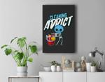 Cleaning Addict, Housekeeping Humor, Halloween Skeleton Premium Wall Art Canvas Decor