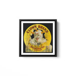 Clown Brand Creepy Vintage Advertising Halloween White Framed Square Wall Art